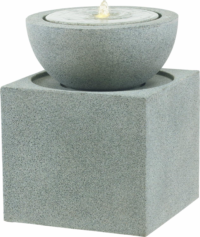 Esteras 8512317060 Brunnen für den Garten, Schale auf Sockel, 60 cm ...