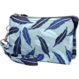 Crest Design Water Repellent Cell Phone Purse Wristlet Clutch Wallets For Women With Wrist Strap