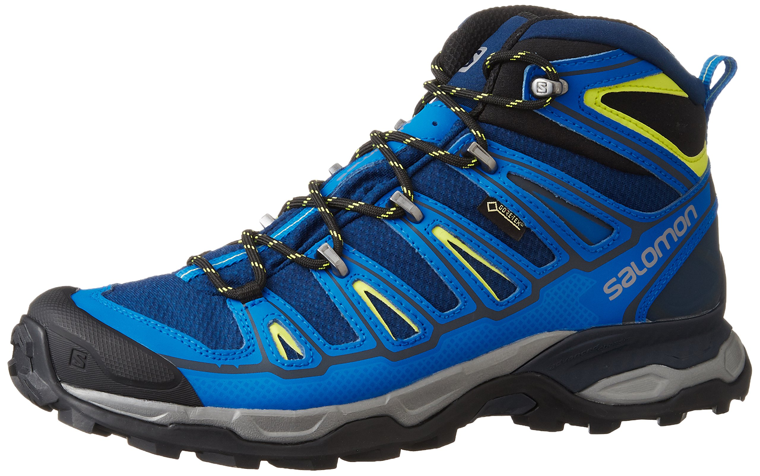 d549e659458e Salomon L39039100-10M men s X Ultra Mid 2 GTX blue textile   leather hiking  boot