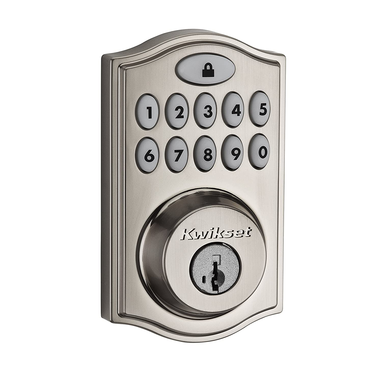Kwikset 99140-008 Smartcode 914 Zigbee Echo Plus and Xfinity Compatible Touchpad Smart Lock, Works with Alexa, Featuring Smartkey in Satin Nickel