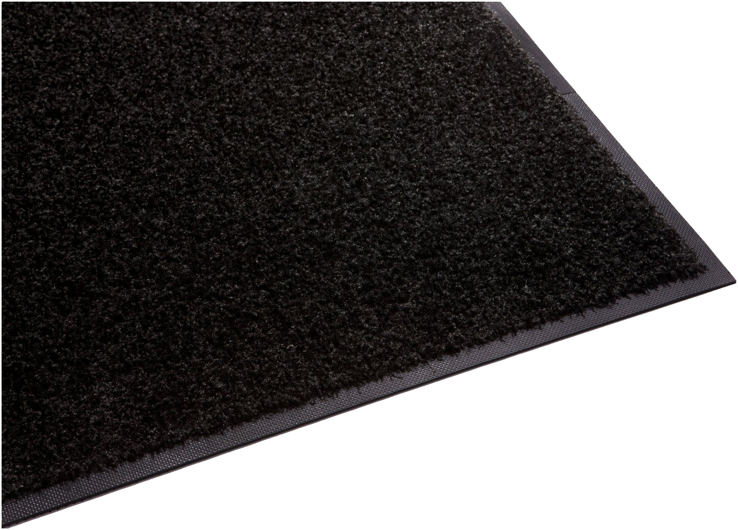 Guardian Platinum Series Indoor Wiper Floor Mat, Rubber with Nylon Carpet, 6'x8', Black