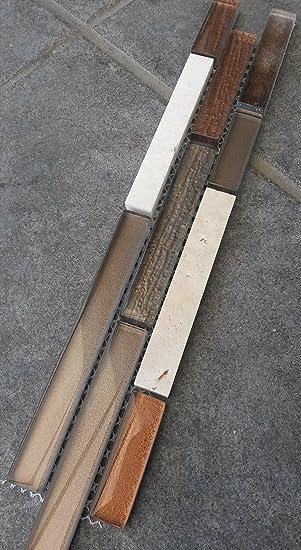 Marmor Glasmosaik Bordüre 5x30 Braun Beige Stäbchen Mosaik Fliesen  Naturstein Bad Dusche B445