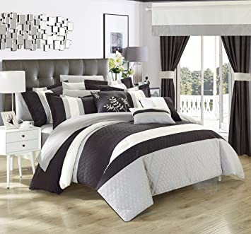 Amazon.com: Chic Home, set de ropa de cama completo, de 24 ...