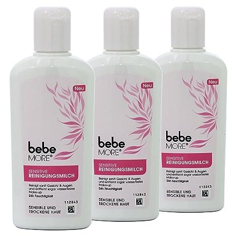 Bebe Leche limpiadora de More Sensitive – Elimina wasserfestes Make-up – 3 x 200