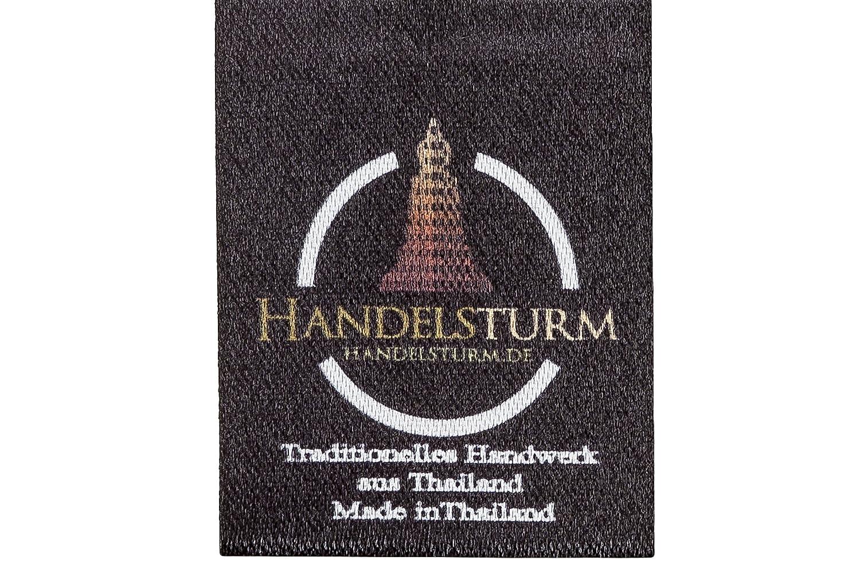 color burdeos /& negro Almohada para el cuello con relleno de kapok dise/ño tradicional tailand/és