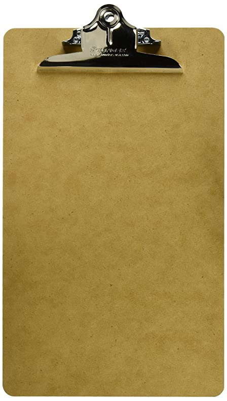 Saunders Recycled Hardboard Clipboard With High Capacity Clip, Legal Size,  8.5 Inch X 14