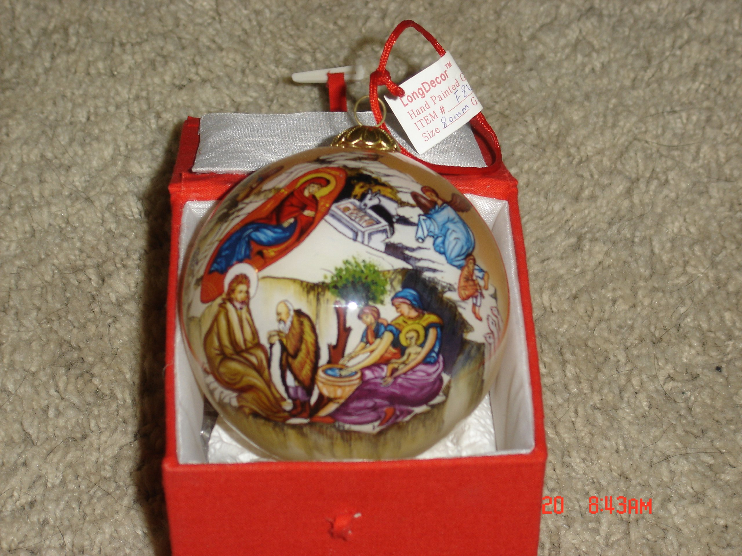 Nativity of Christ Hand Painted Christmas Ornament