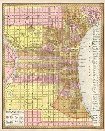 Amazoncom Historical Street Map Or Plan Of Philadelphia - Historic philadelphia map