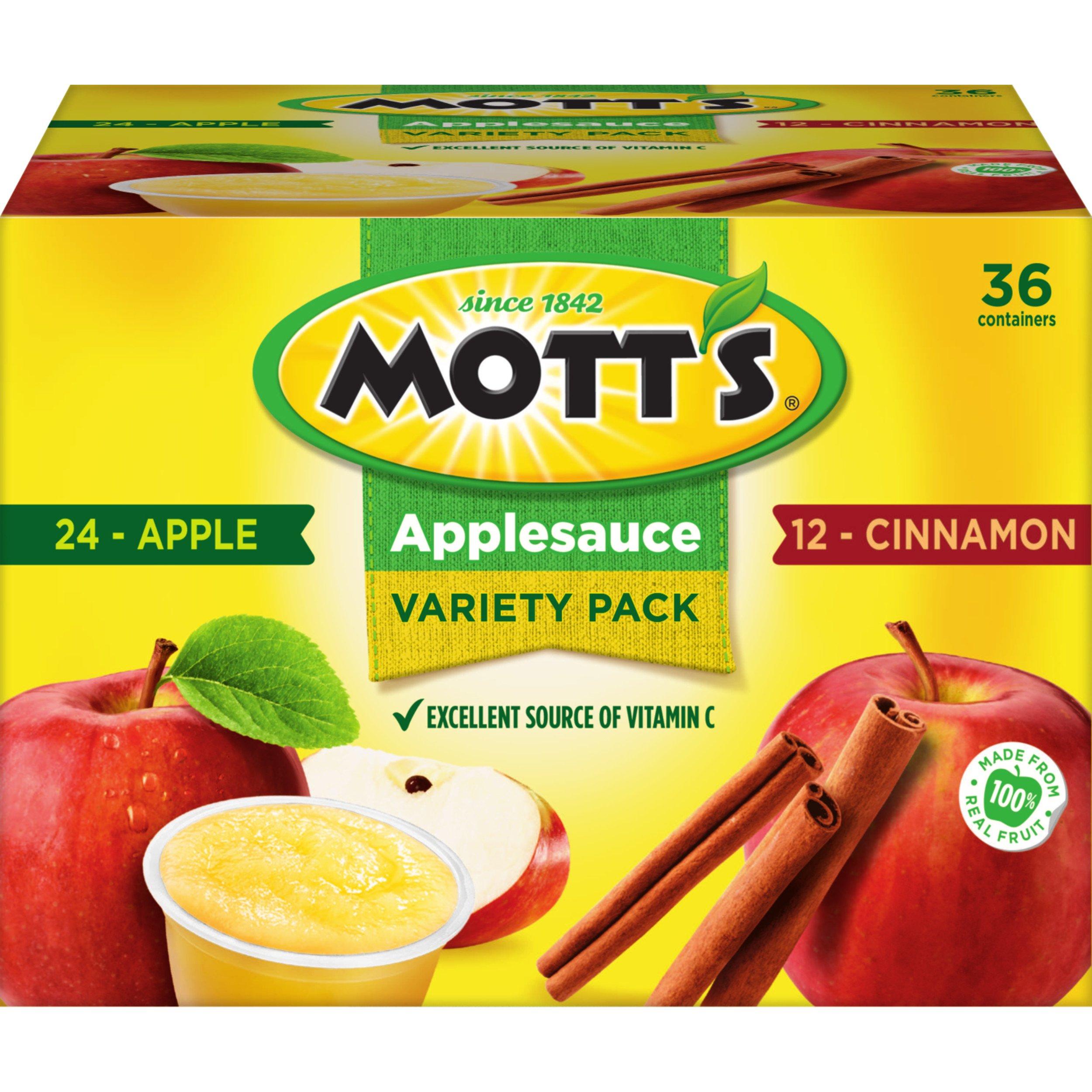 Mott's Apple & Cinnamon Variety Pack Applesauce, 4 oz cups, 36 count by Mott's
