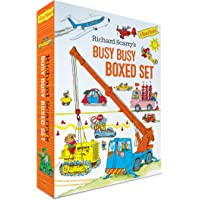 Richard Scarry's Busy Busy Boxed Set: Busy Busy Airport; Busy Busy Cars and Trucks; Busy Busy Construction Site; Busy…