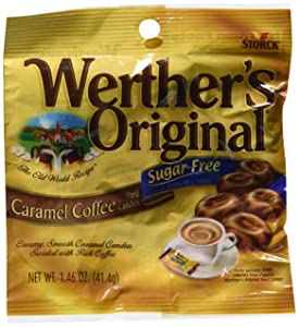 Werther's Original - Sugar Free - Caramel Coffee Hard Candies (Pack of 3) (3 bags)