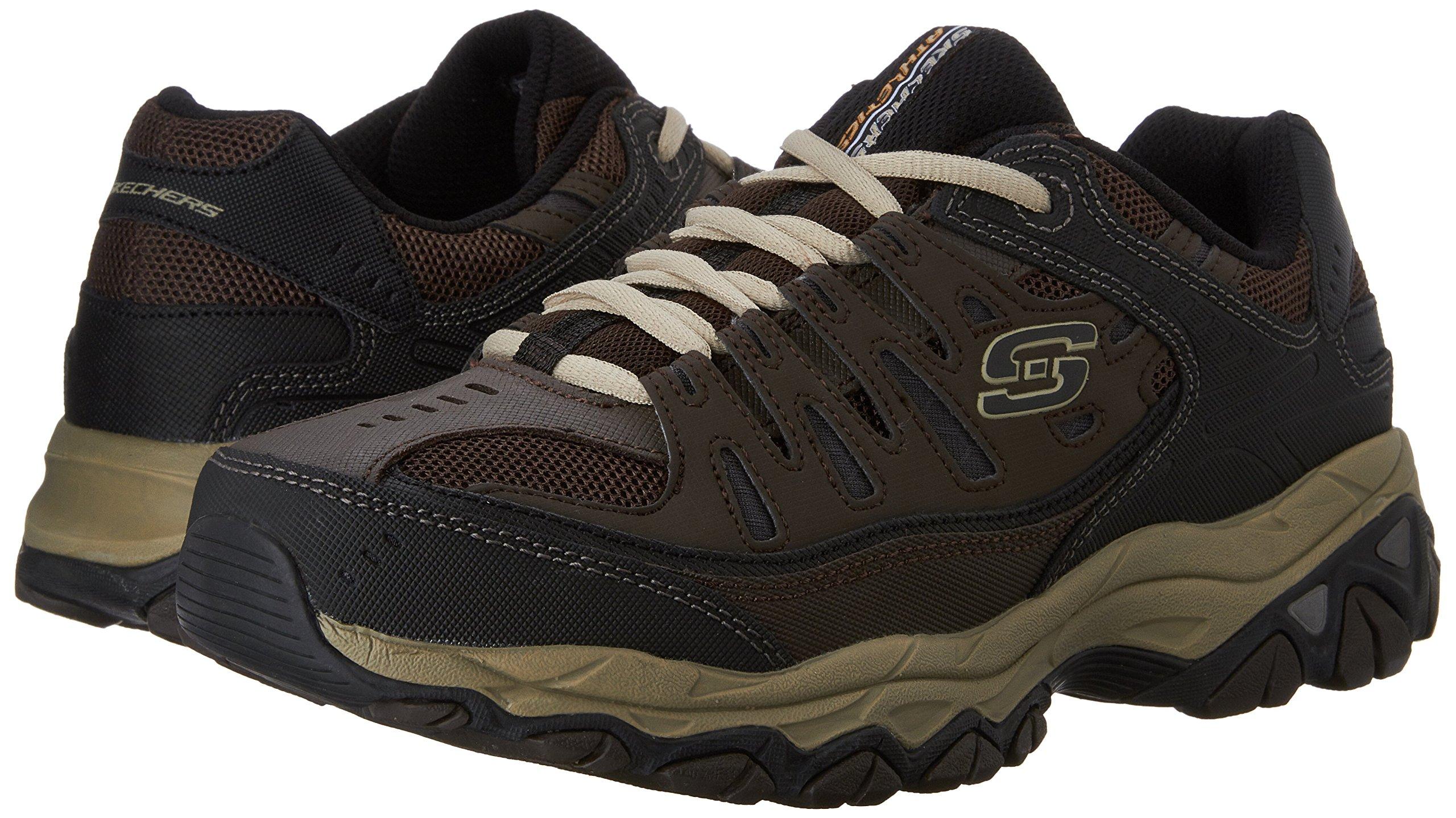 Skechers Men's AFTERBURNM.FIT Memory Foam Lace-Up Sneaker, Brown/Taupe, 7.5 M US by Skechers (Image #6)