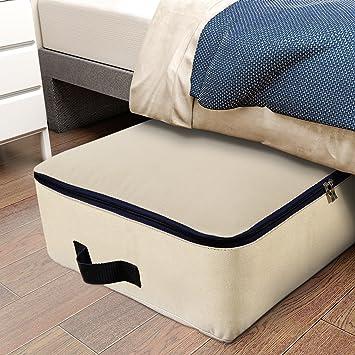 Lifewit Bolsa de almacenamiento Tela Plegable para prendas de cama edredones fundas de edredón manta almohadas prendas de vestir suéteres (100L+100L): ...
