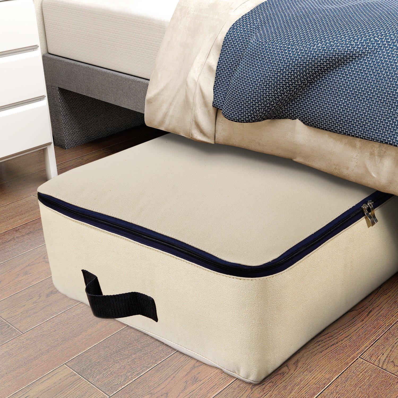 Lifewit Bolsa de almacenamiento Tela Plegable para prendas de cama edredones fundas de edredón manta almohadas prendas de vestir suéteres (100L 73x51x27cm)