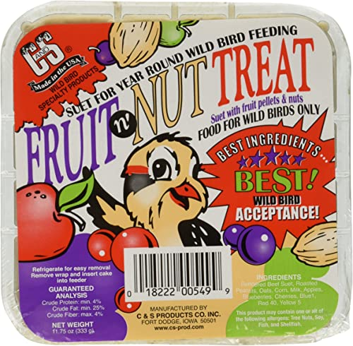 C S Products Fruit n Nut Treat, 12-Piece