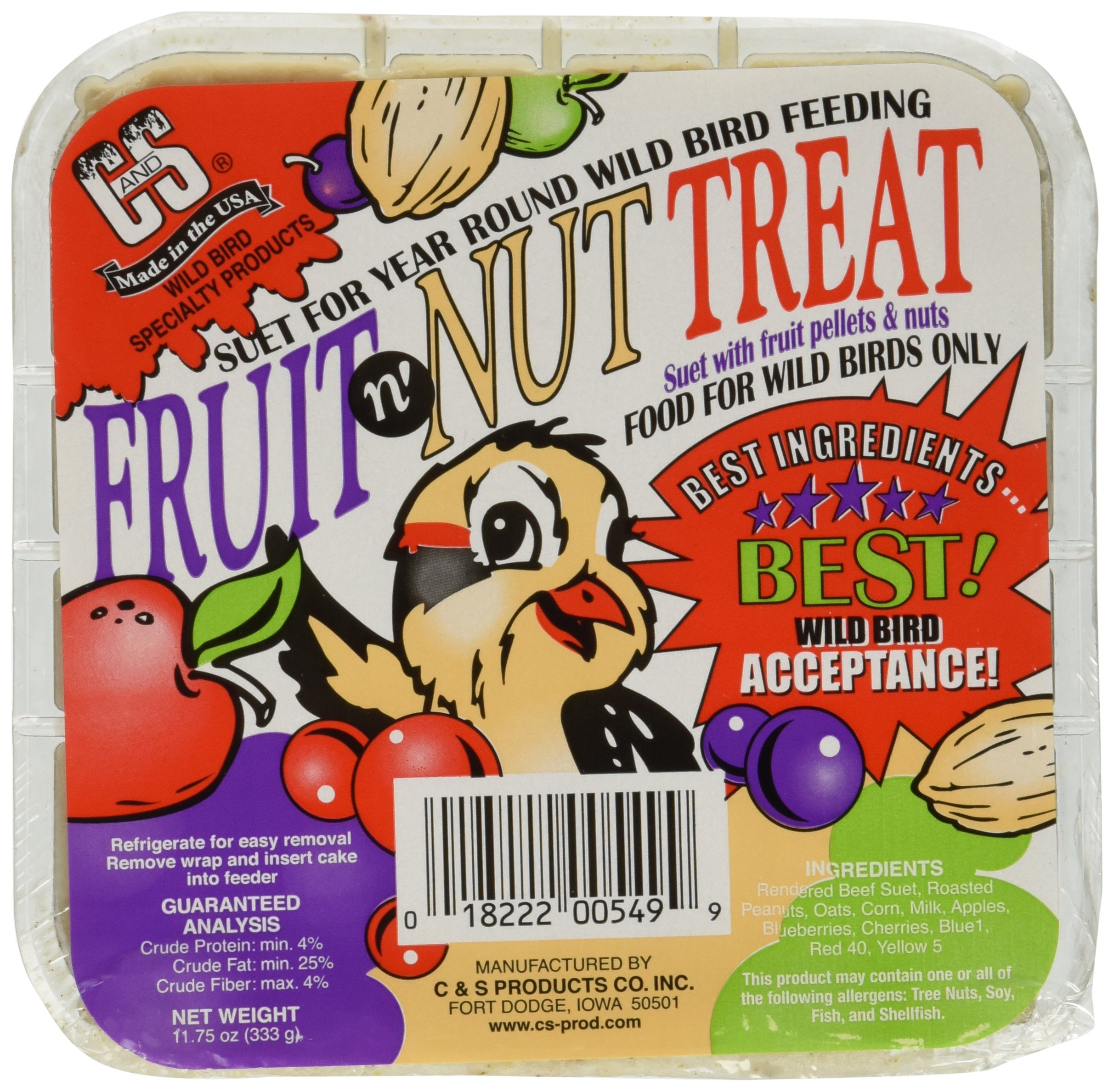 C & S Products Fruit n' Nut Treat, 12-Piece by C & S Products