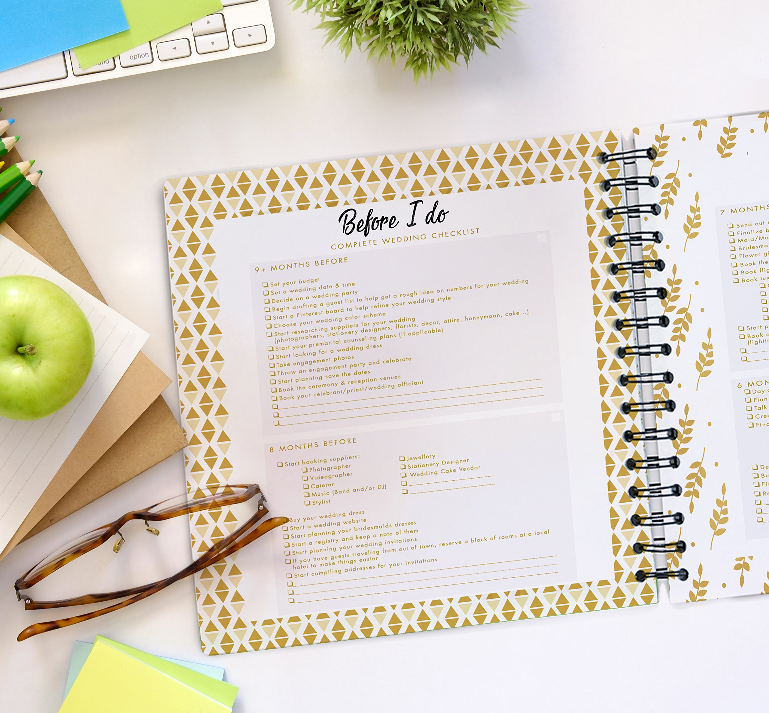 The Ultimate Wedding Planner – A Complete 80 Pages Hardcover Organizer that Includes Checklists, Party Planner, Budget Organizer, Honeymoon and More to Help You Organize The Wedding of Your Dreams! by Unconditional Rosie (Image #2)