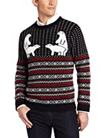 Alex Stevens Men's Polar Bear Pair Ugly Christmas Sweater
