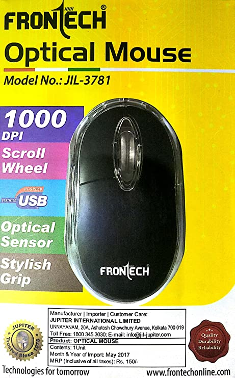 76c78736177 Amazon.in: Buy Frontech Optical Mouse-JIL-3781 Online at Low Prices in India  | Frontech Reviews & Ratings