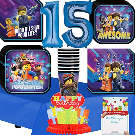 Image Unavailable Not Available For Color Lego Movie 2 Party Supplies 15th Birthday