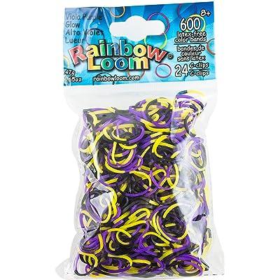 Rainbow Loom Viola Purple Glow Bands: Toys & Games
