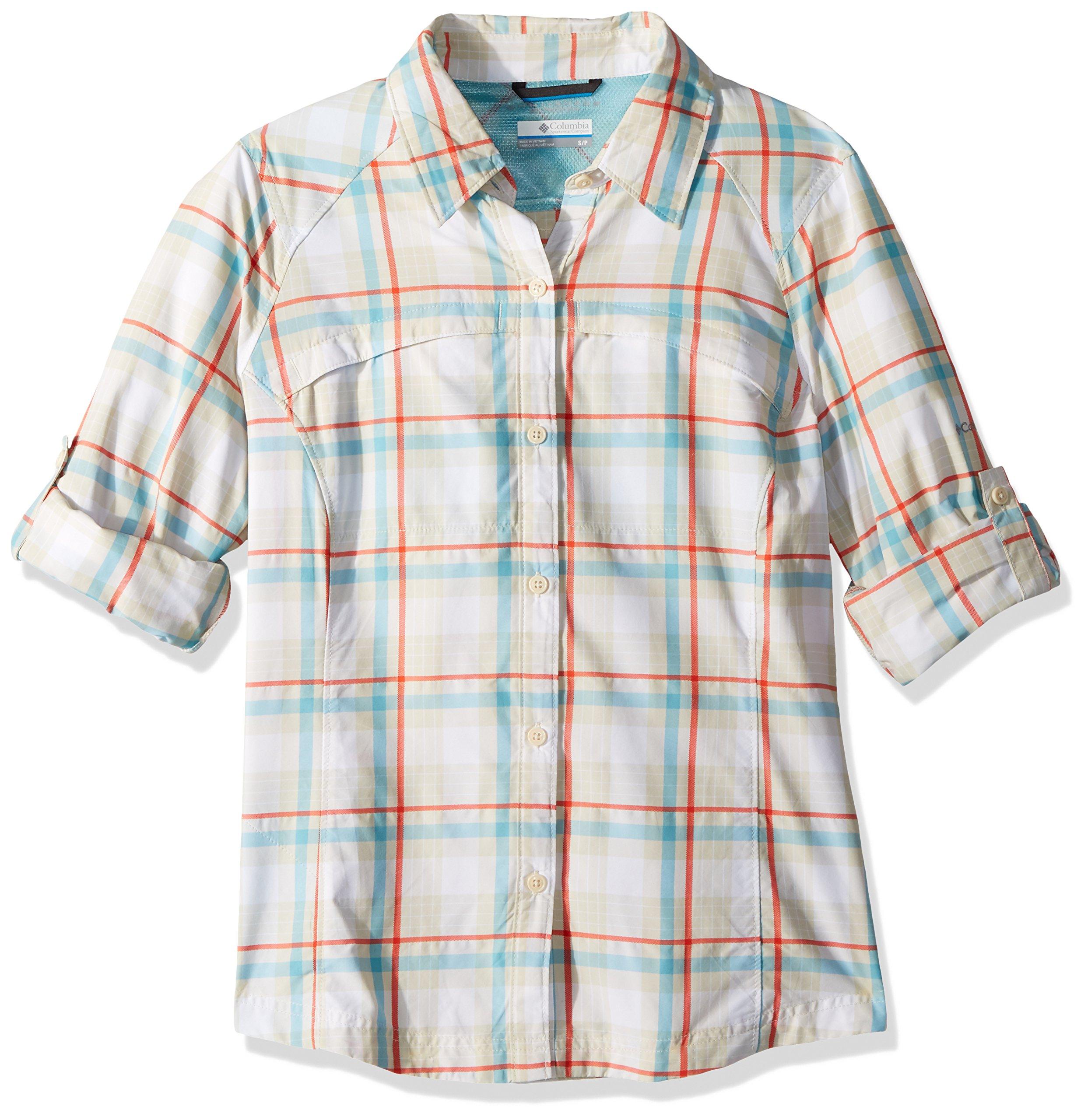 Columbia Silver Ridge Plaid Long Sleeve Shirt, Stone Plaid, Medium by Columbia