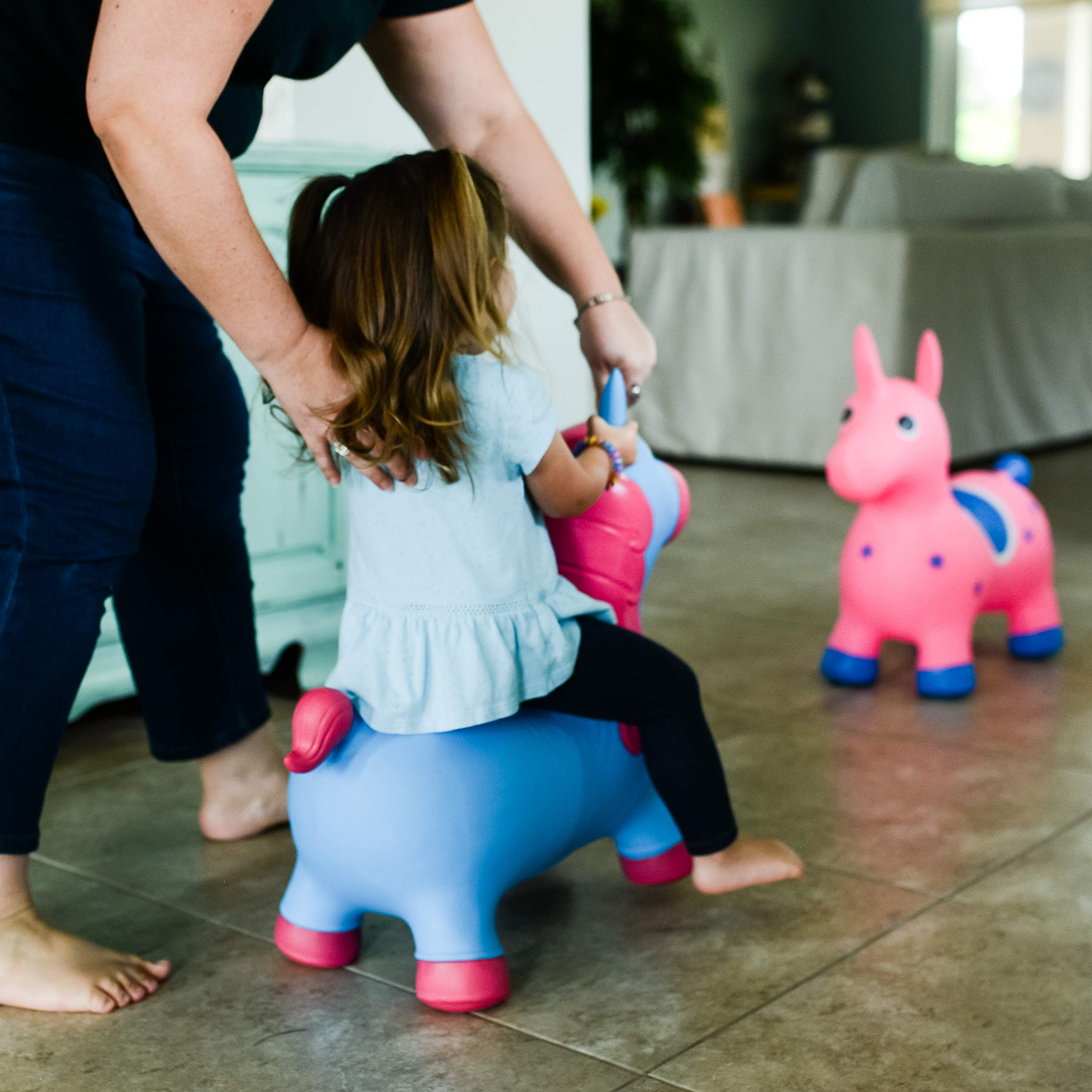 Kiddie Play Hopper Ball Unicorn Inflatable Hoppity Hop Bouncy Horse Toy (Pump Included) by Kiddie Play (Image #9)