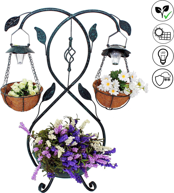ABC Home Garden Lampe solaire en polyr/ésine pour jardin Majestestais avec LED et interrupteur marche//arr/êt 50 cm