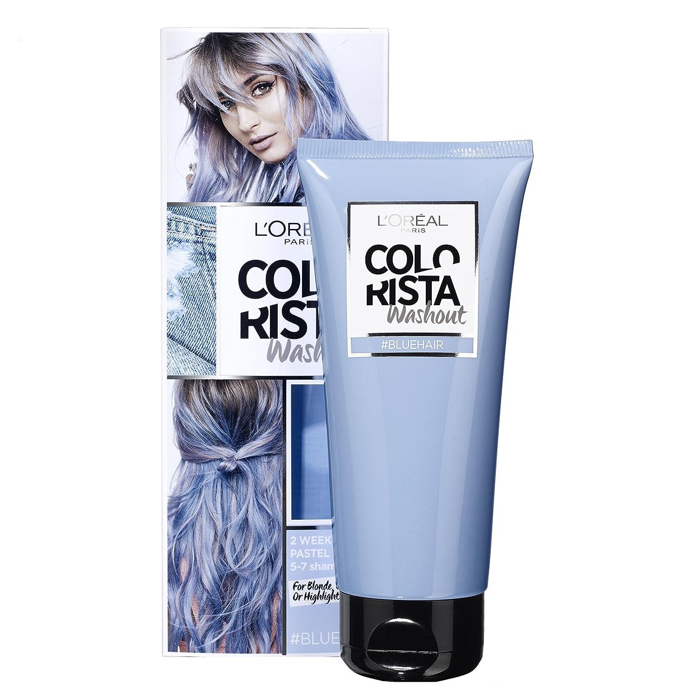 colorista washout 2 semaines couleur temporaire pour cheveux bleu - Coloration Temporaire Rose