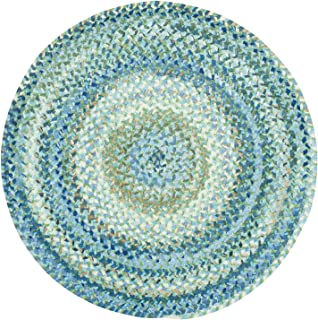 """product image for Capel Rugs Ocracoke Round Braided Area Rug, 9' 6"""", Light Blue"""