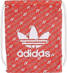 adidas Originals Unisex Trefoil Sackpack, Monogram Bright Red/White, ONE SIZE