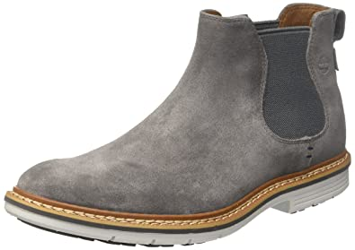Timberland Mens Naples Trail Chelsea Dark Grey Suede 8 D - Medium
