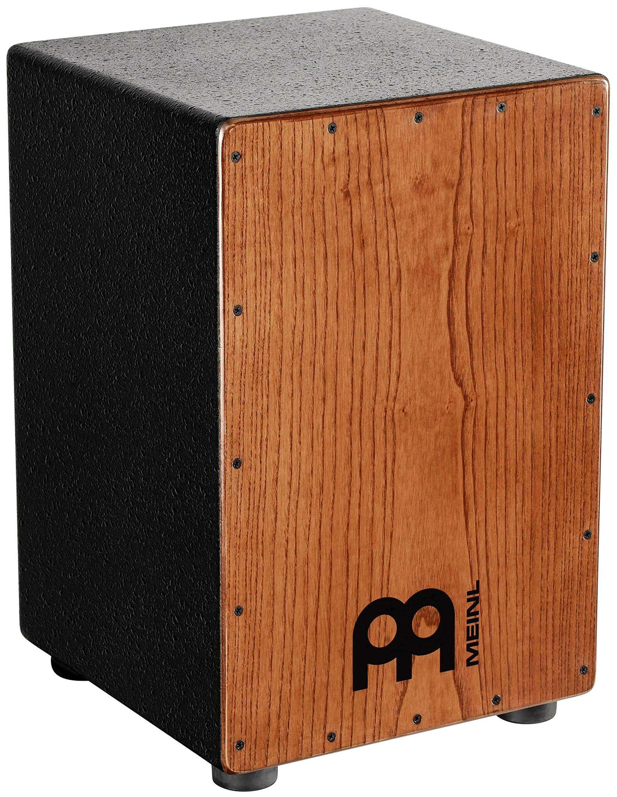 Meinl Percussion Cajon with Internal Metal Strings for Adjustable Snare Effect - NOT MADE IN CHINA - American White Ash with MDF Body, 2-YEAR WARRANTY HCAJ1AWA
