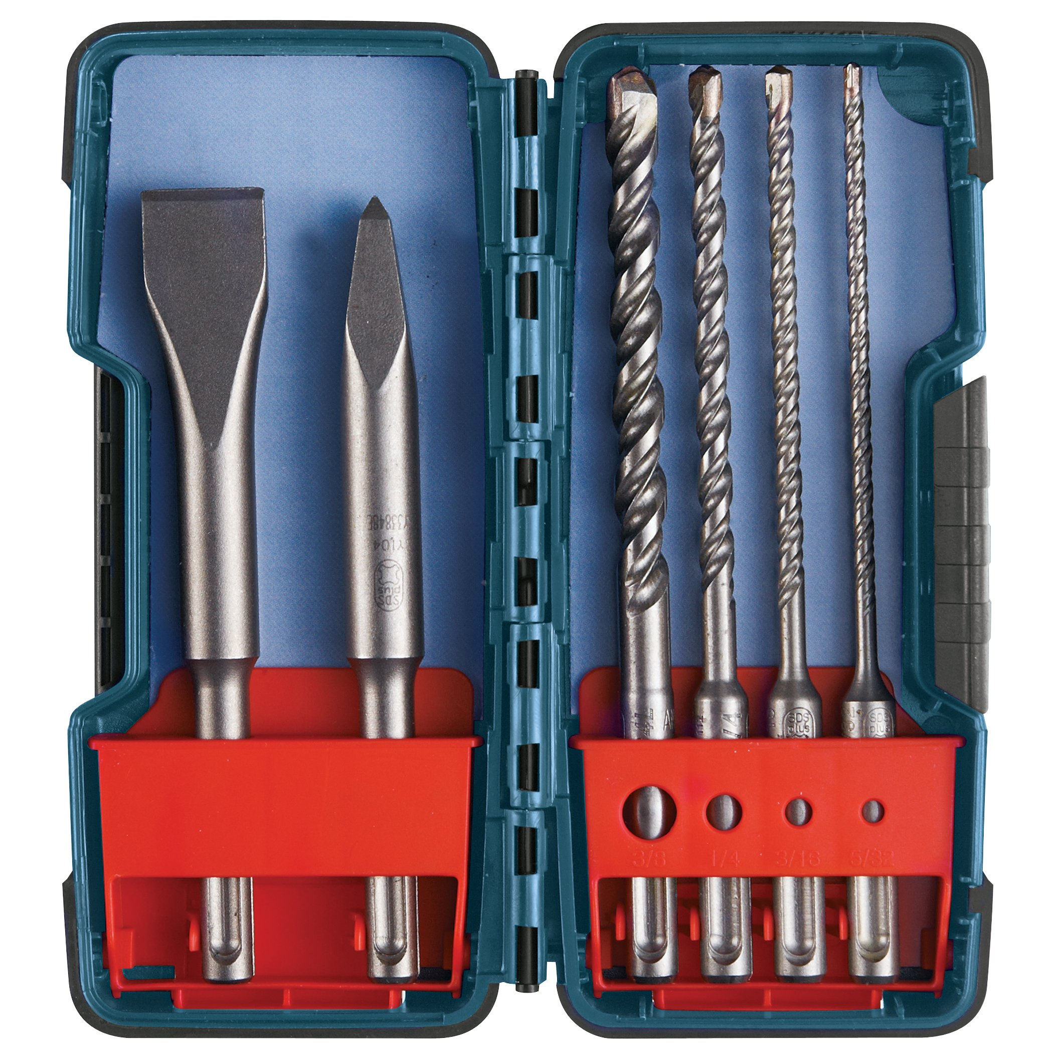 Bosch 6 Piece SDS-plus Masonry Trade Bit Set, Chisels and Carbide, HCST006