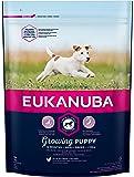 Eukanuba Puppy Welpenfutter für kleine Rassen mit verbesserter, neuer Rezeptur – Welpen Trockenfutter für Hunde im Alter von 1-12 Monaten in der Geschmacksrichtung Huhn