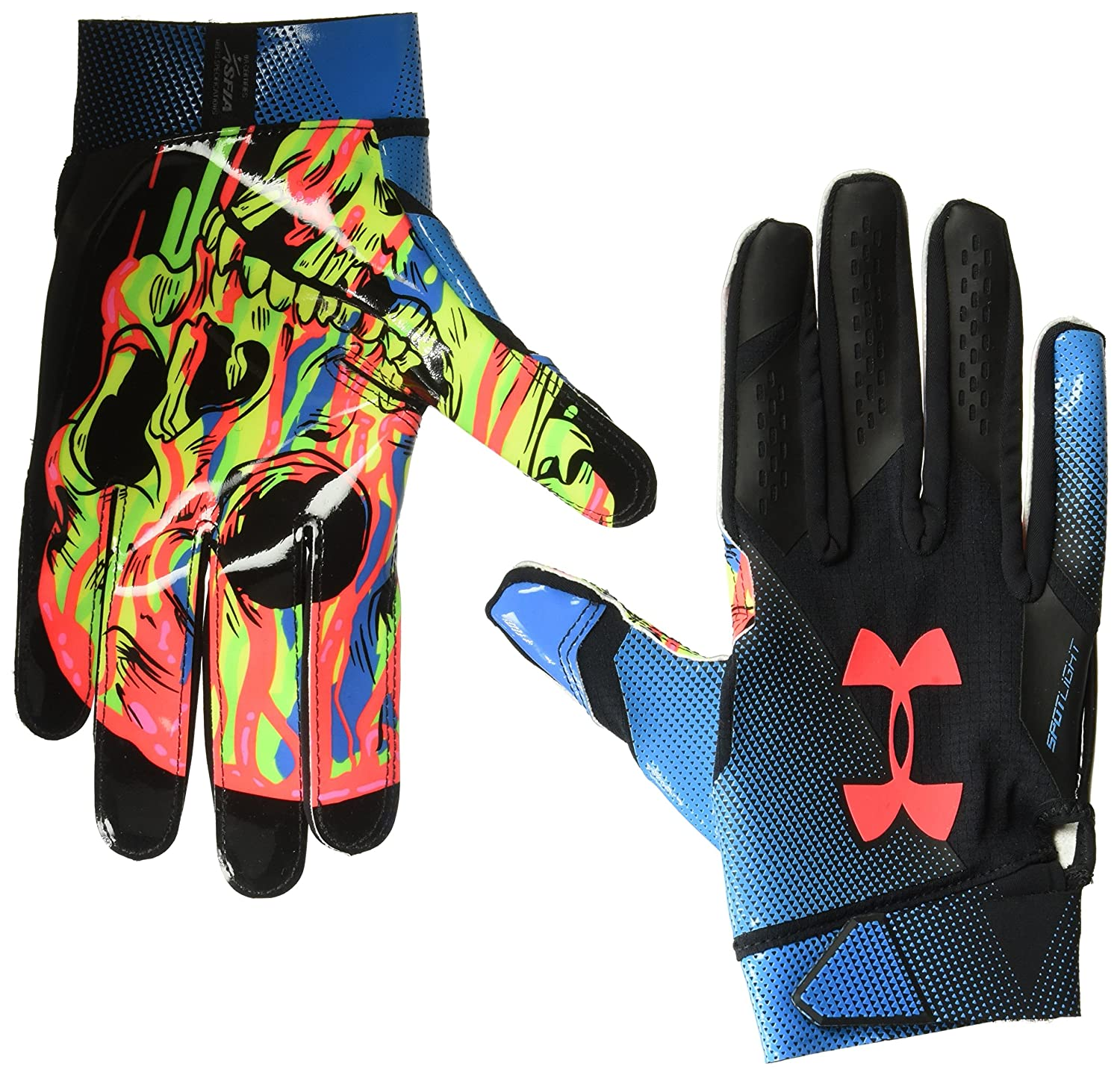 b9a5cc4fd1cf0 Amazon.com : Under Armour Men's Spotlight LE-NFL Football Gloves : Clothing