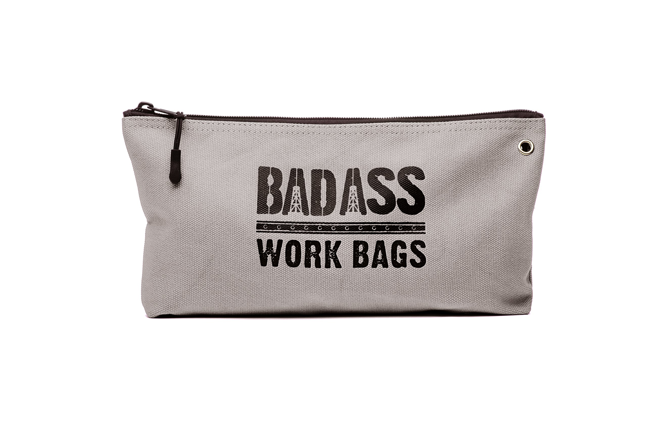 Bad Ass Work Gear   4-Pack of Heavy Duty 20 oz. Canvas Zipper Tool Bags in 4 colors   Toughest Utility Bag by Bad Ass Work Gear (Image #4)