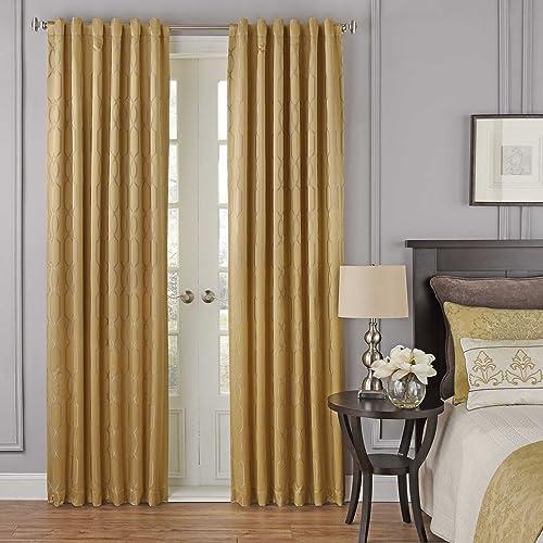 BEAUTYREST 52″ x 63″ Window Treatment Thermal Insulated Single Panel-Rod Pocket Darkening Curtains