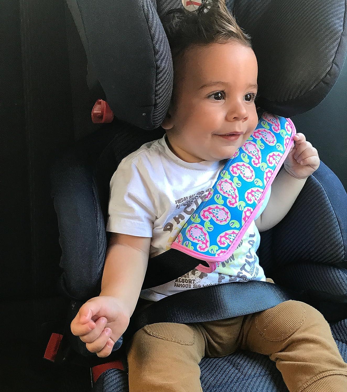 1x Auto Gurtschutz Sicherheitsgurt Schulterpolster Schulterkissen Autositze Gurtpolster Für Kinder Und Erwachsene Türkis Rosa Von Heckbo Baby