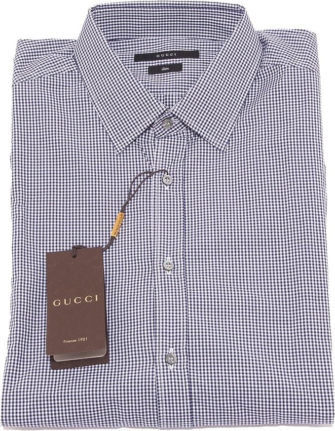camicia GUCCI SLIM camicie uomo shirt men 22060 [17 (43)]: Amazon ...