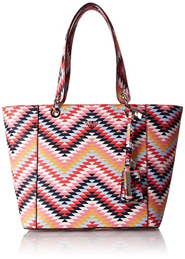 52b4ef5463a GUESS Kamryn Geo Print Tote, Pink Multi  Amazon.co.uk  Shoes   Bags