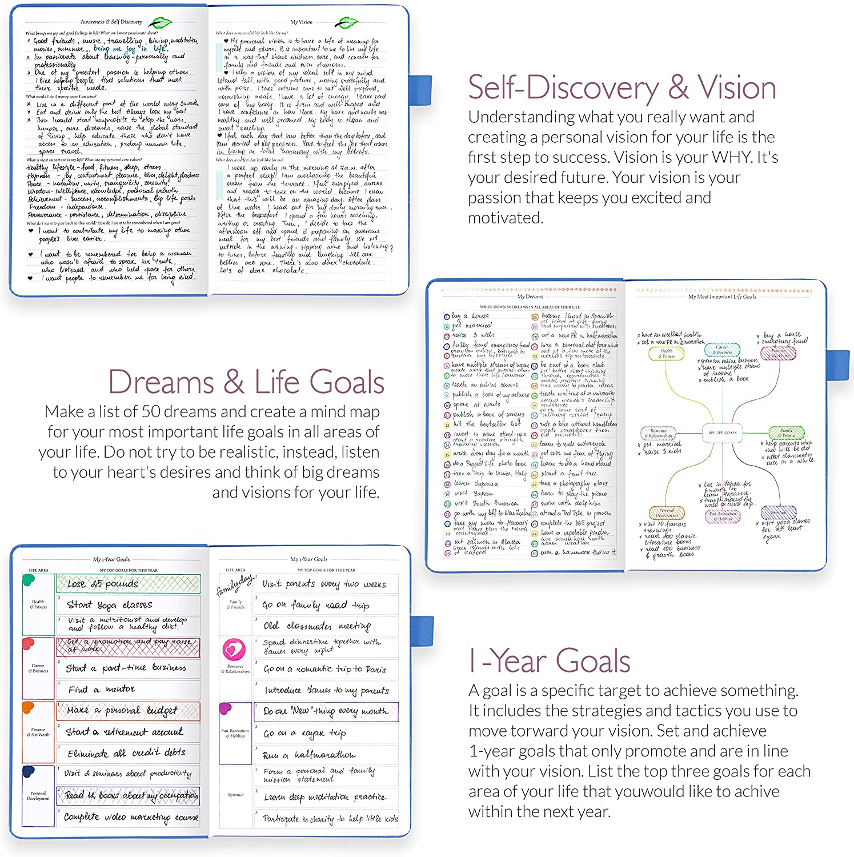 non dat/é A5 atteindre les objectifs et g/érer le temps-ma/ître Legend Planner Turquoise Meilleur agenda hebdomadaire et calendrier mensuel pour augmenter la productivit/é