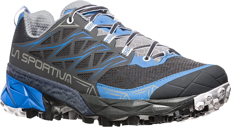 La Sportiva Akyra Woman, Zapatillas de Trail Running para Mujer 36.5 EU|Multicolor (Carbon / Cobalt Blue 000)