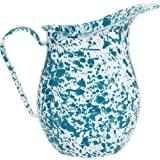 Enamelware Large Pitcher - Turquoise Marble