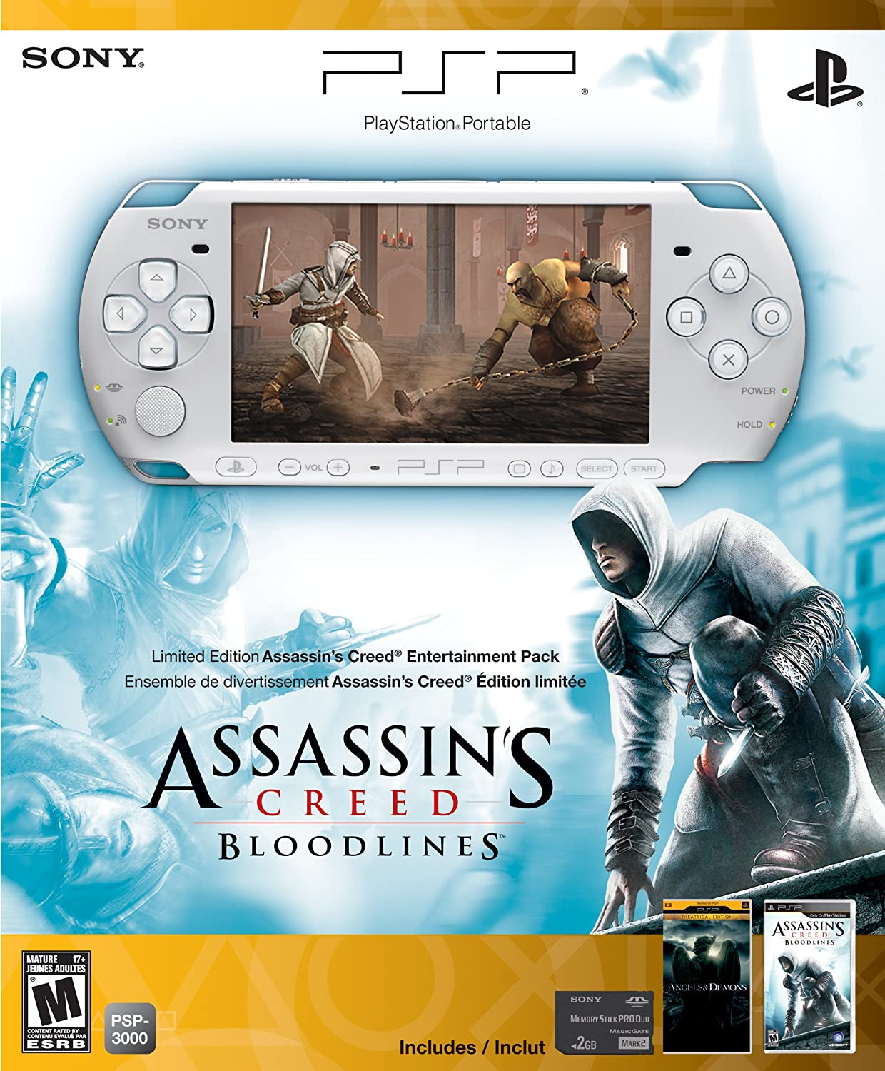 Amazon Com Psp 3000 Limited Edition Assassin S Creed Bloodlines Entertainment Pack White Video Games