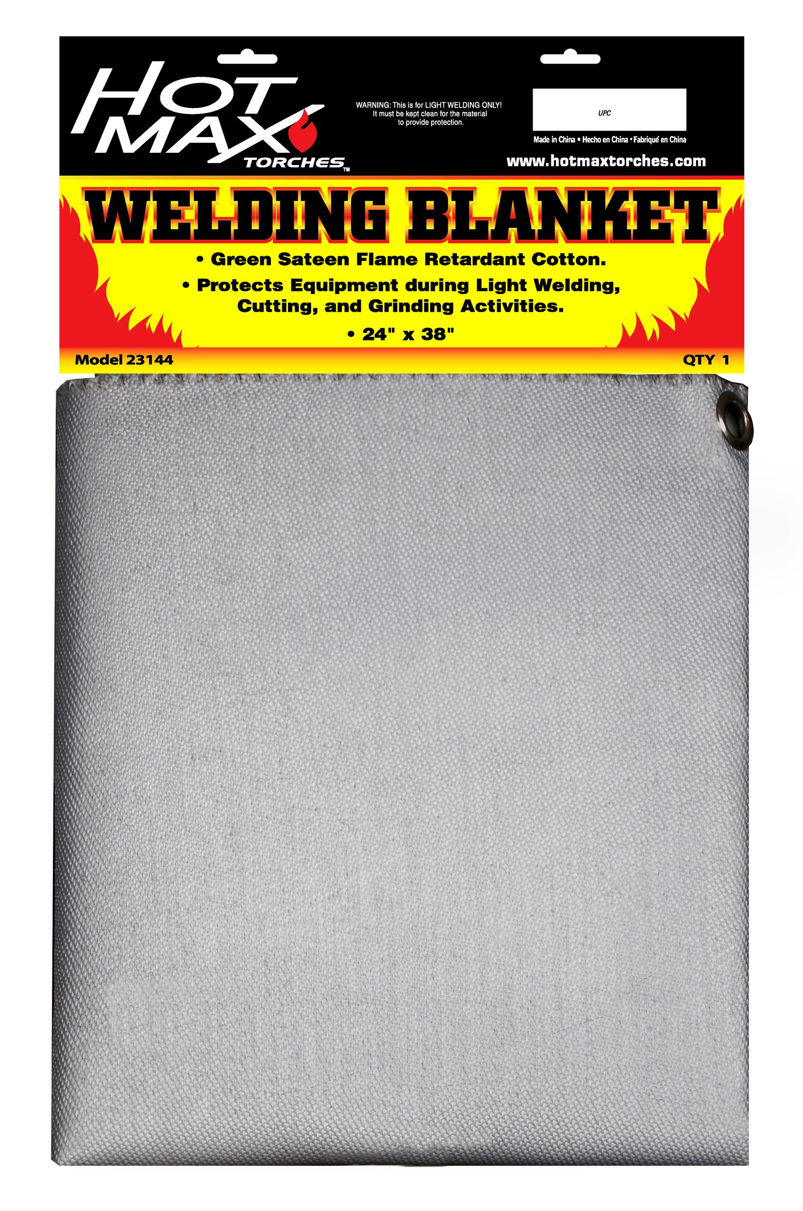 Hot Max 23144 24-Inch by 38-Inch Silver Flame Retardant Welding Blanket