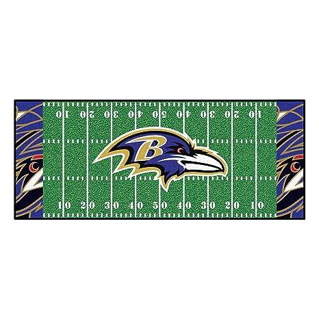 Amazon Com Nfl Baltimore Ravens Football Field Runner Mat Area Rug