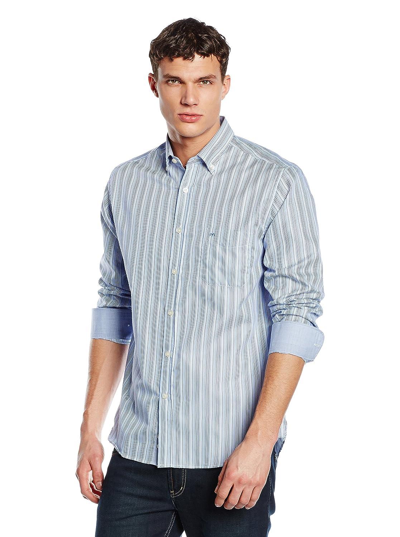Milano Camisa Hombre Azul 39 cm (15.5
