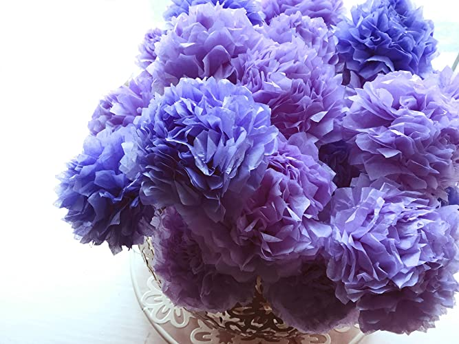 Amazon iris blue purple tissue paper pom pom flower bouquet iris blue purple tissue paper pom pom flower bouquet table dcor floral centrepiece paper handmade home mightylinksfo