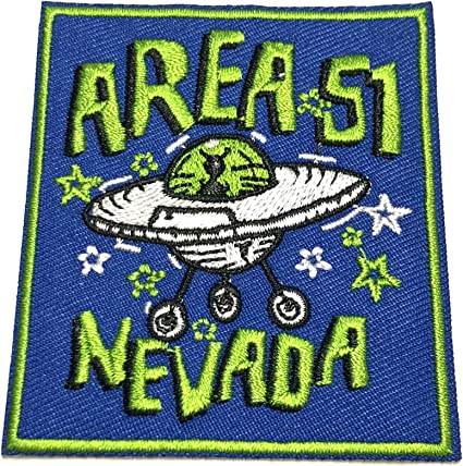 Get In Loser UFO Embroidered Patch Iron//Sew-On Applique X-Files Cryptid Mystery